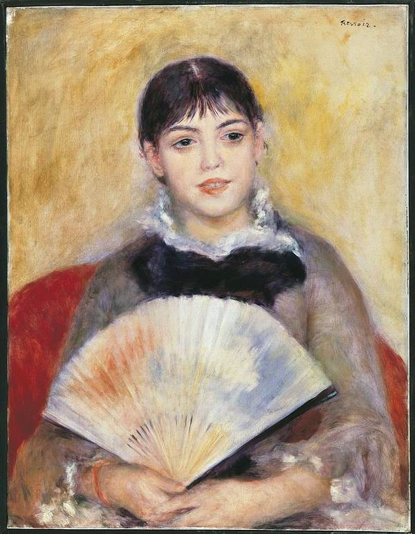 Vertical Poster featuring the photograph Renoir, Pierre-auguste 1841-1919. Girl by Everett