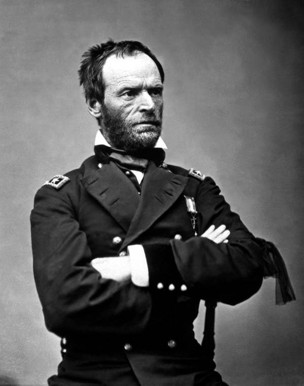 General Sherman Poster featuring the photograph General William Tecumseh Sherman by War Is Hell Store