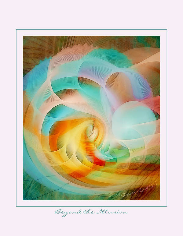 Fractal Poster featuring the digital art Beyond The Illusion by Gayle Odsather