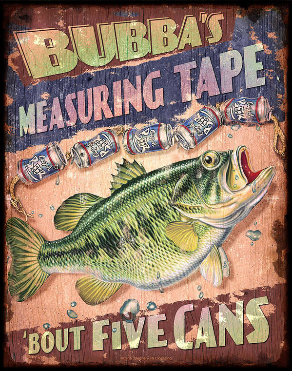 Jon Q Wright Poster featuring the painting Bubba Measuring Tape by JQ Licensing