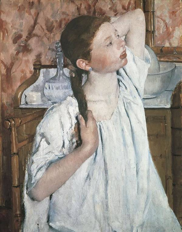 Vertical Poster featuring the photograph Cassatt, Mary Stevenson 1845-1926. Girl by Everett