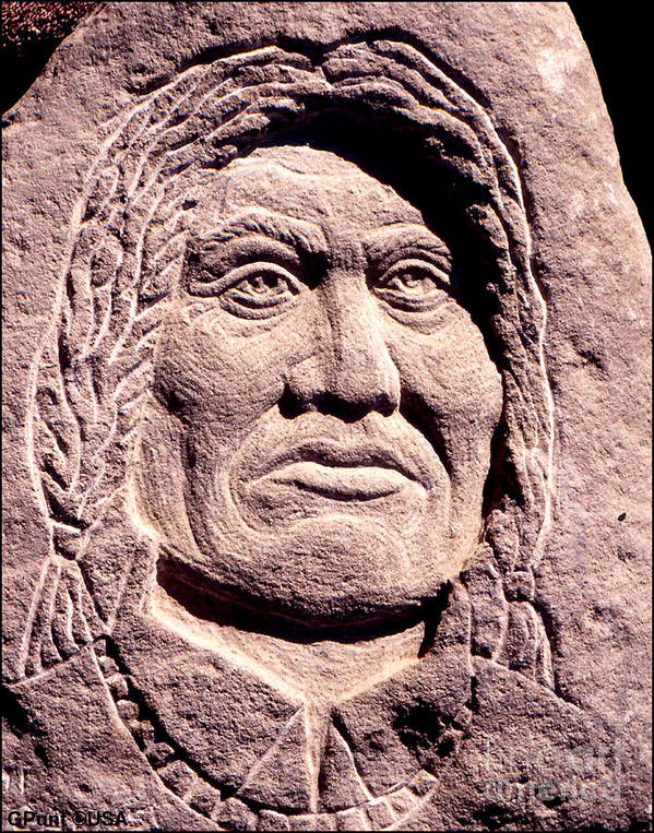 American Indians Poster featuring the sculpture Chief-gall by Gordon Punt
