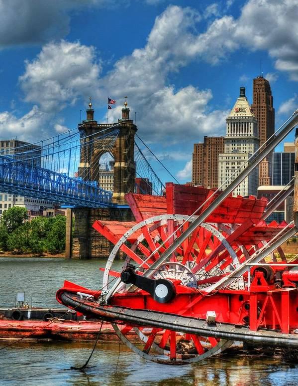Cincinnati Poster featuring the photograph Cincinnati Landmarks 1 by Mel Steinhauer