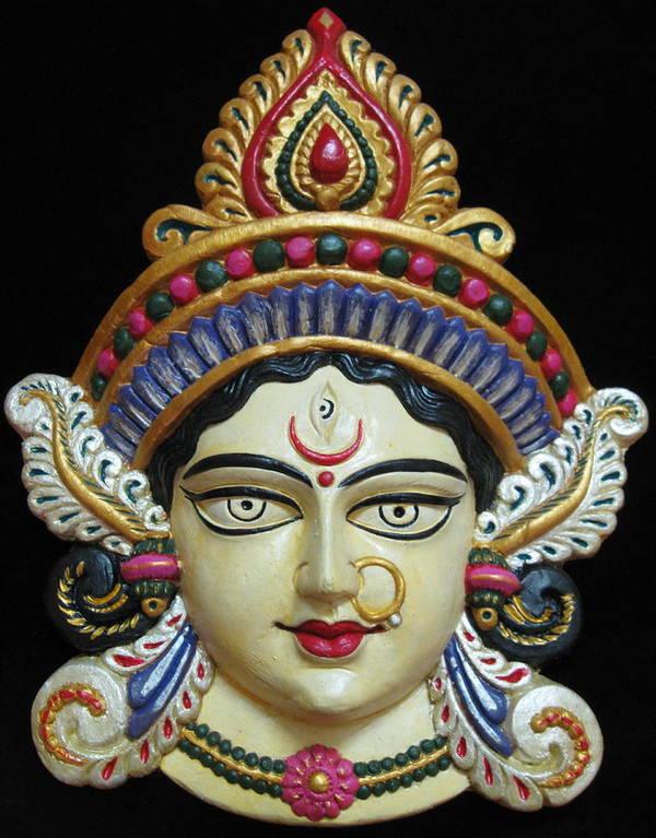 Goddess Poster featuring the painting Goddess Durga by Sayali Mahajan