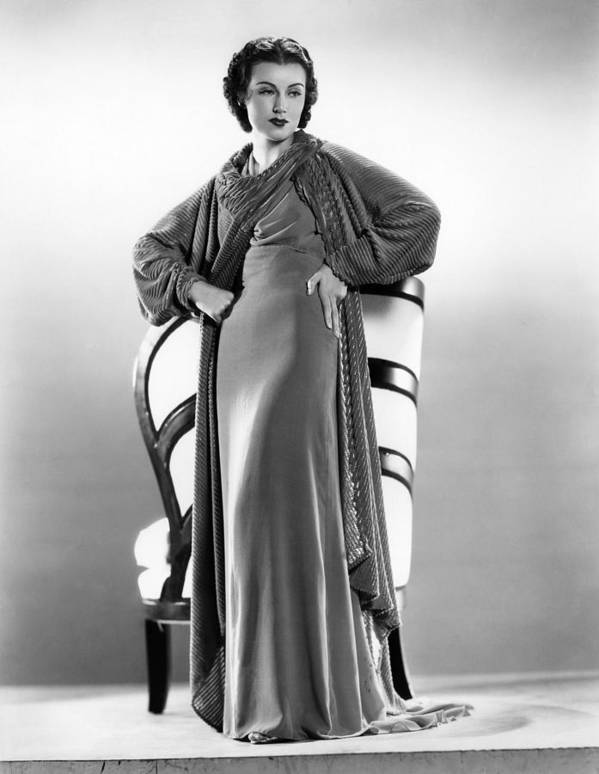 1930s Fashion Poster featuring the photograph The Richest Girl In The World, Fay by Everett
