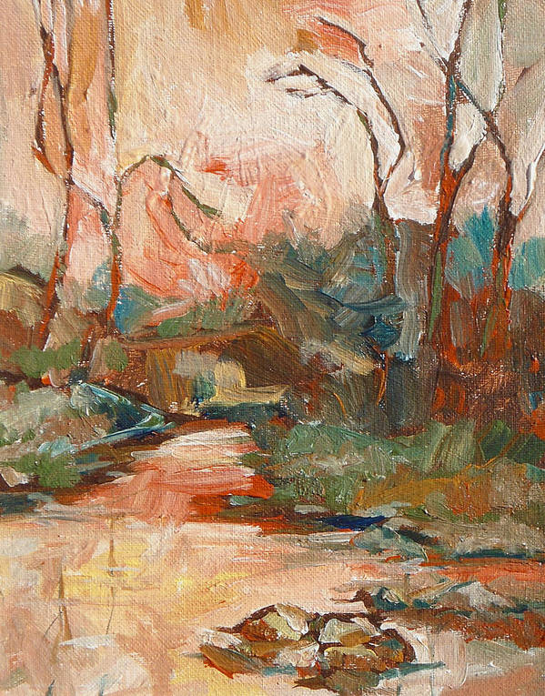 Sedona Poster featuring the painting West Fork 2 by Sandy Tracey