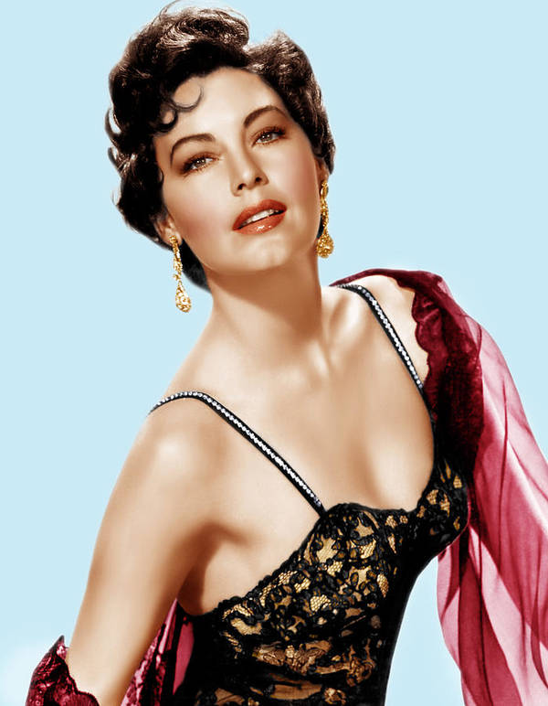 1950s Portraits Poster featuring the photograph Ava Gardner, Ca. 1950s by Everett