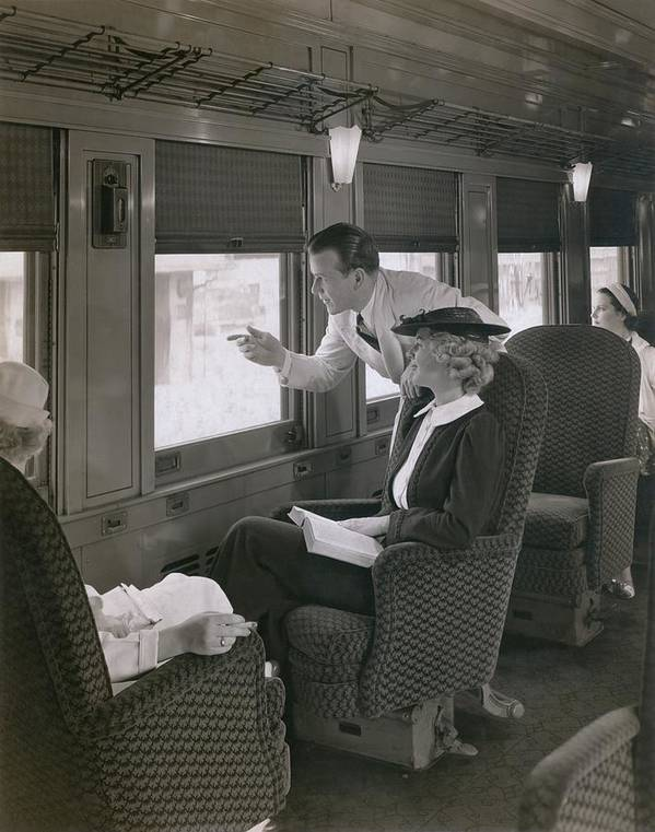 History Poster featuring the photograph First Class Passengers In An by Everett