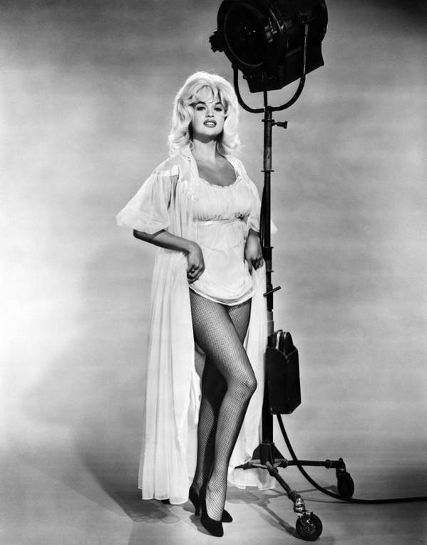 1960s Portraits Poster featuring the photograph Jayne Mansfield, Ca. 1962 by Everett