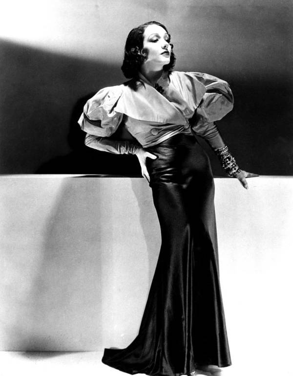 1930s Fashion Poster featuring the photograph Lupe Velez Wearing Blue Satin Skirt by Everett