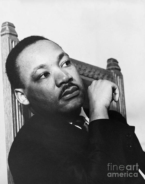 History Poster featuring the photograph Martin Luther King, Jr by Photo Researchers