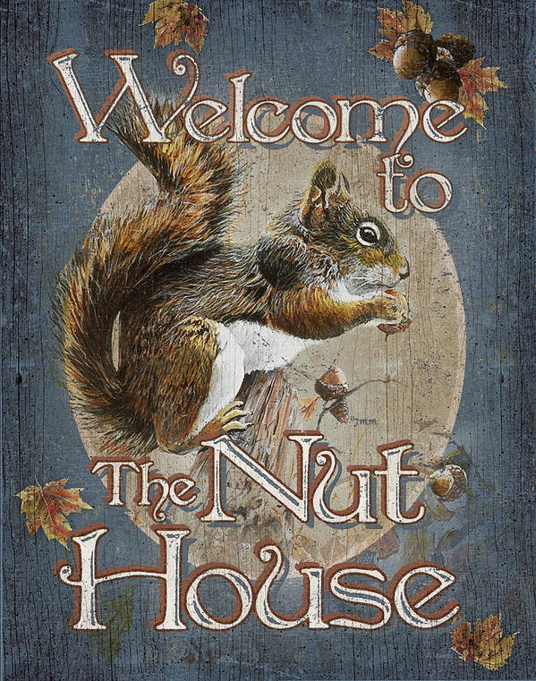 Wildlife Poster featuring the painting Nut House by JQ Licensing