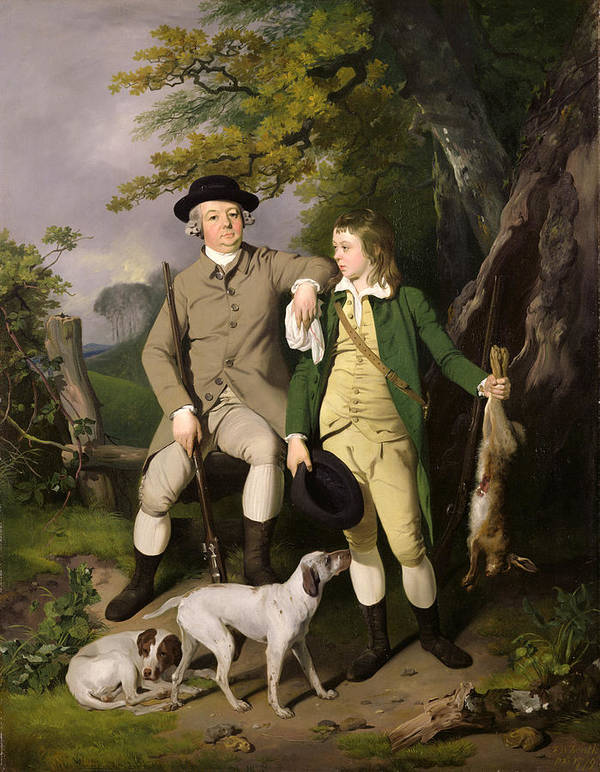 Portrait Poster featuring the painting Portrait Of A Sportsman With His Son by Francis Wheatley