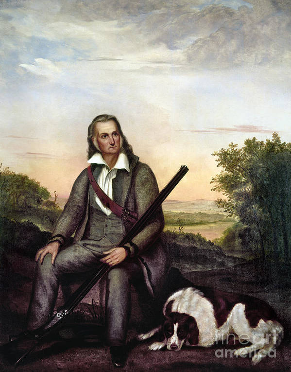1841 Poster featuring the painting John James Audubon by Granger