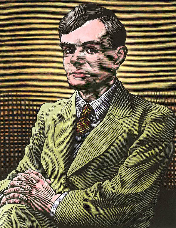 Alan Turing Poster featuring the photograph Alan Turing, British Mathematician by Bill Sanderson