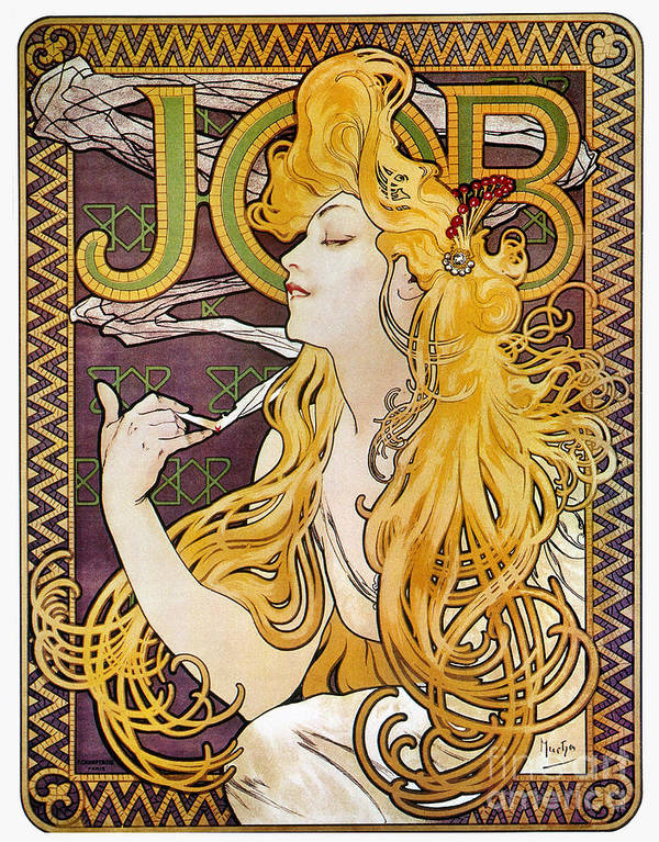 1897 Poster featuring the photograph Mucha: Cigarette Papers by Granger