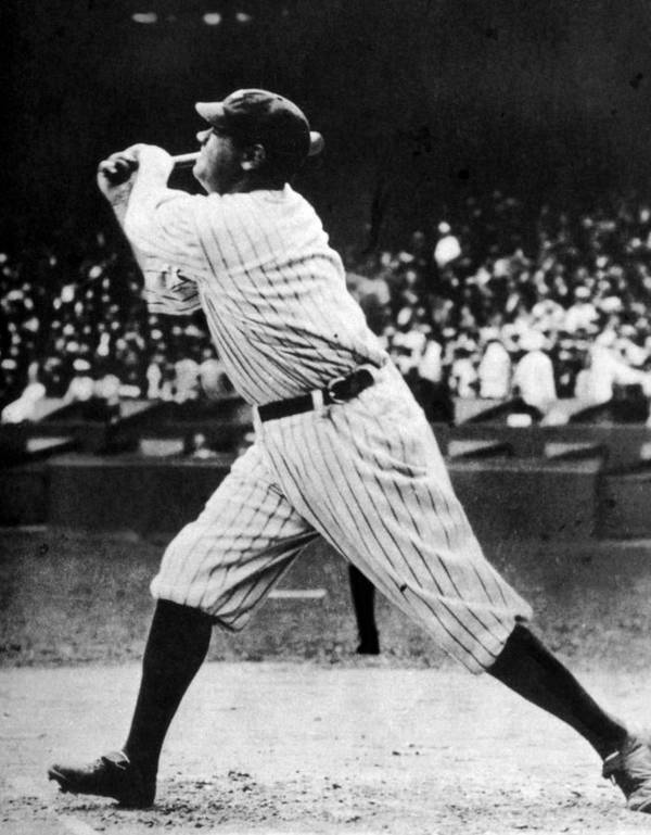 1920s Candid Poster featuring the photograph Babe Ruth 1895-1948 At Bat, Ca. 1920s by Everett
