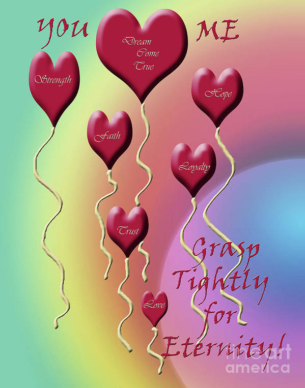 Love Poster featuring the digital art Grasp Tightly For Eternity by Cathy Beharriell