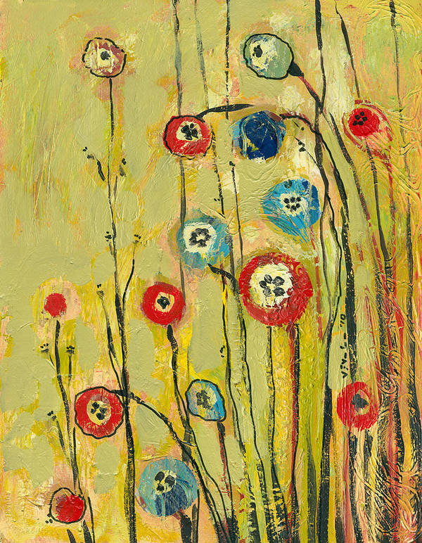 Floral Poster featuring the painting Hidden Poppies by Jennifer Lommers