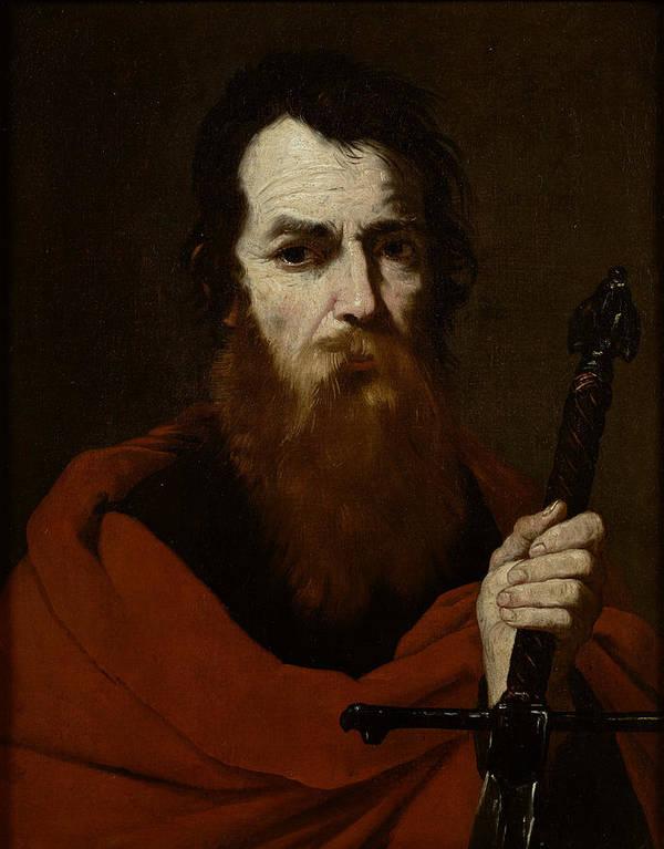 Paul Poster featuring the painting Saint Paul by Jusepe de Ribera