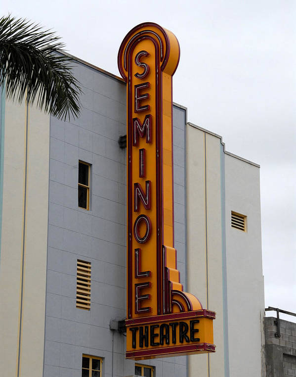 Fine Art Photography Poster featuring the photograph Seminole Theatre 1940 by David Lee Thompson