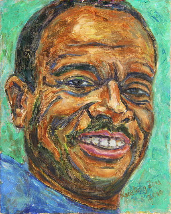 African American Poster featuring the painting A Teacher From Atlanta Ga by Xueling Zou
