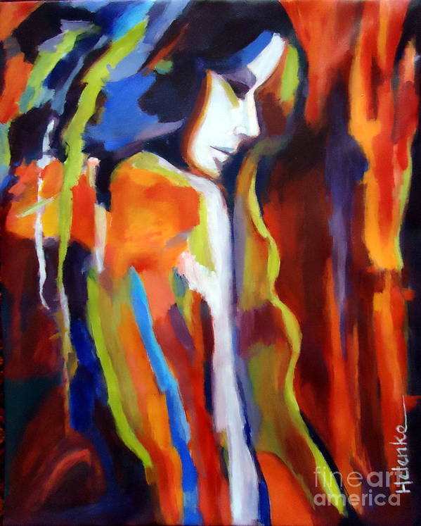 Nude Figures Poster featuring the painting Animus by Helena Wierzbicki