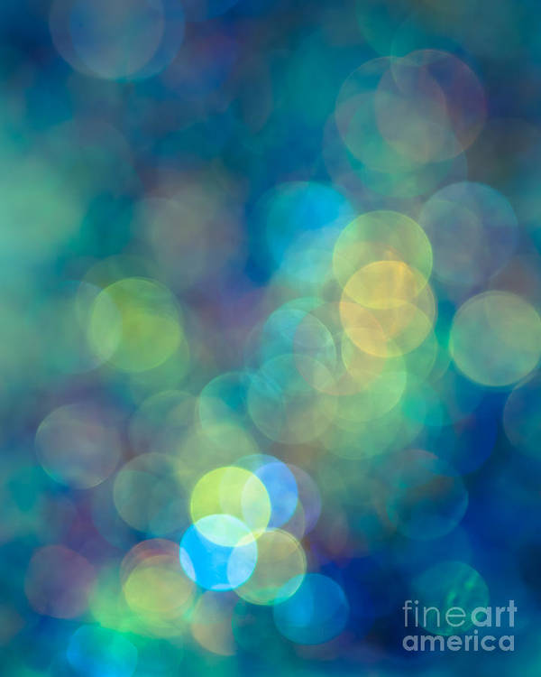 Abstract Poster featuring the photograph Blue Of The Night by Jan Bickerton