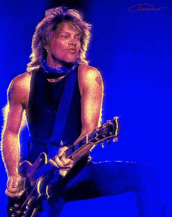 Portraits Poster featuring the painting Jon Bon Jovi by John Travisano