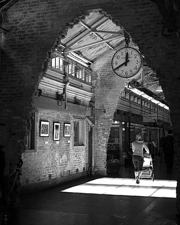 New York City Poster featuring the photograph Lunchtime At Chelsea Market by Rona Black