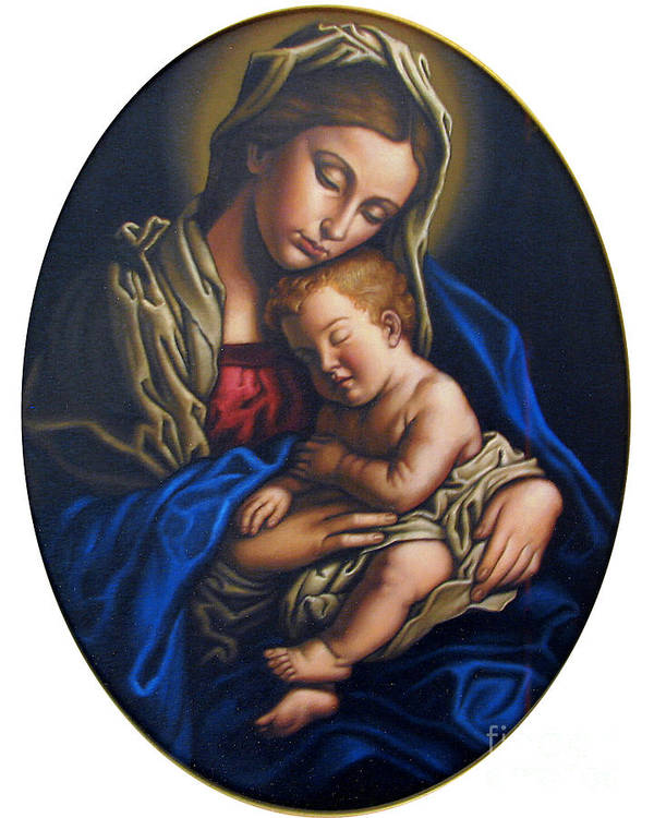 Madonna And Child Poster featuring the painting Madonna And Child by Jane Whiting Chrzanoska