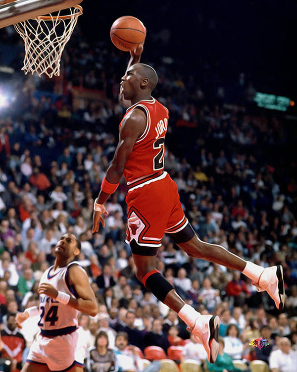 Nba Poster featuring the painting Michael Jordan by Paint Splat