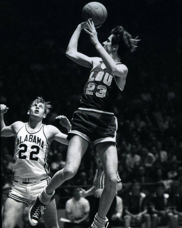 Classic Poster featuring the photograph Pete Maravich Fade Away by Retro Images Archive