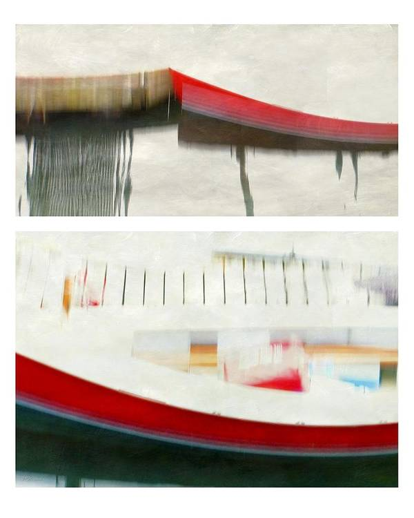 Red Boat Poster featuring the photograph Red Boat At The Dock by Patricia Strand