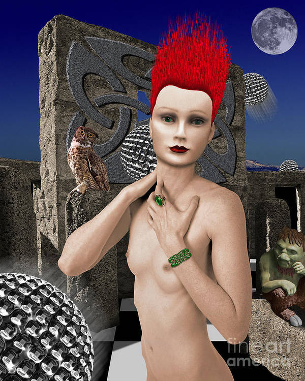 Surreal Landscape Poster featuring the digital art She Returns In Dreamland by Keith Dillon