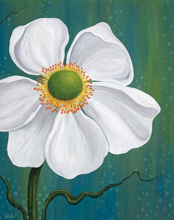 Floral Poster featuring the painting Surfacing by Tanielle Childers