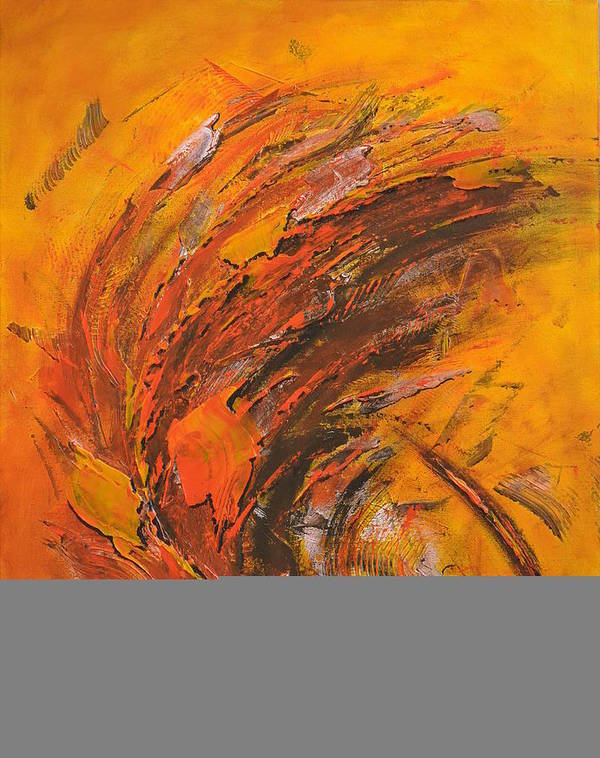 Abstract Poster featuring the painting Terres Ocres by Thierry Vobmann