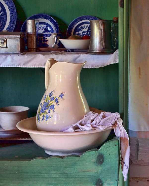 Vintage Poster featuring the photograph Wash Basin Still Life by Nikolyn McDonald
