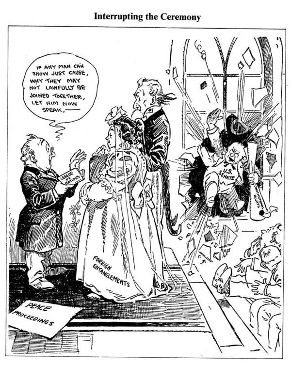 1918 Poster featuring the drawing League Of Nations Cartoon by Granger