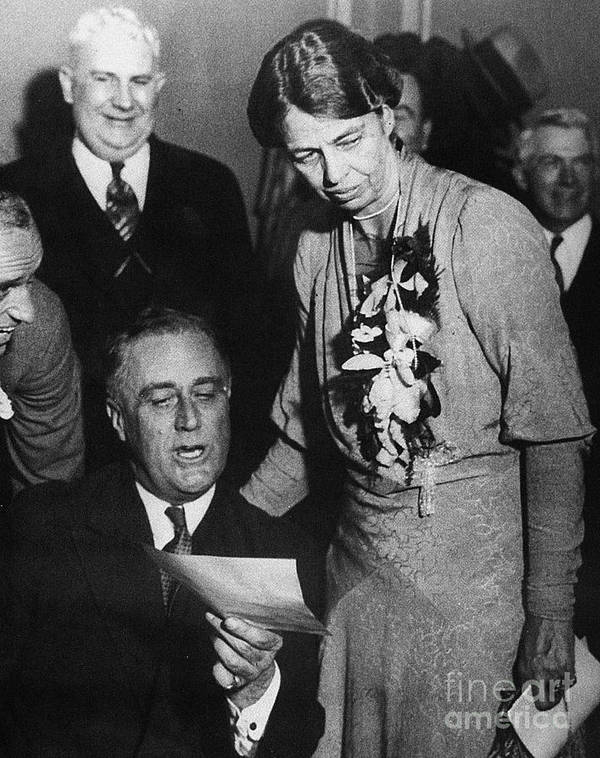 1932 Poster featuring the photograph Franklin D. Roosevelt by Granger