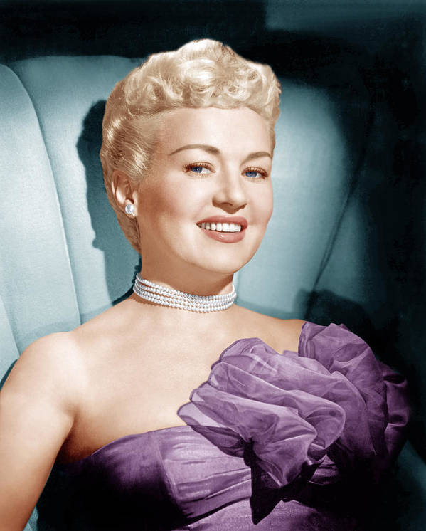 1950s Portraits Poster featuring the photograph Betty Grable, Ca. 1950s by Everett