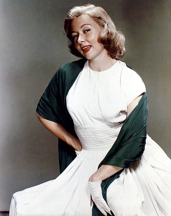 1950s Fashion Poster featuring the photograph Gloria Grahame, Ca. 1950s by Everett