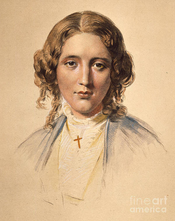 1853 Poster featuring the photograph Harriet Beecher Stowe by Granger