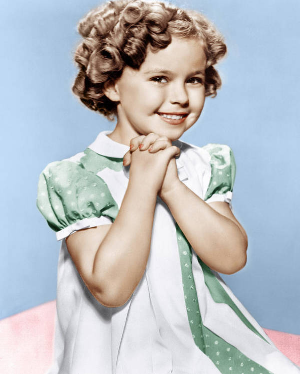 1930s Portraits Poster featuring the photograph Shirley Temple, Ca. 1936 by Everett