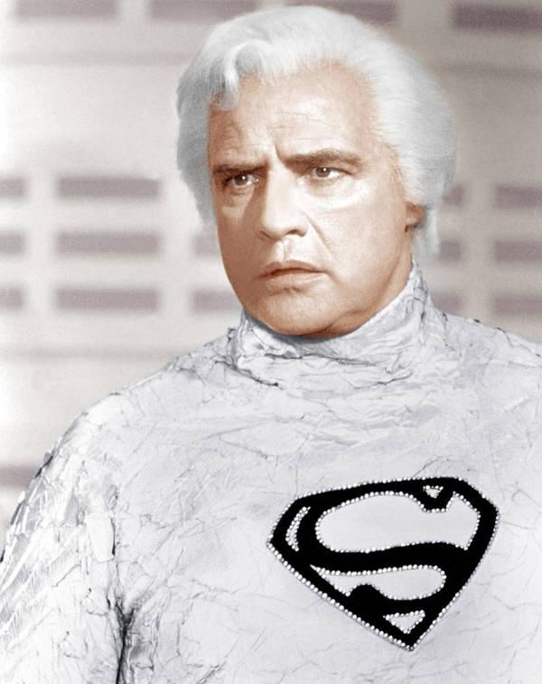 1970s Portraits Poster featuring the photograph Superman, Marlon Brando, 1978 by Everett