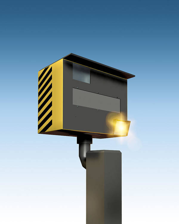 Machine Poster featuring the photograph Traffic Speed Camera by Victor Habbick Visions