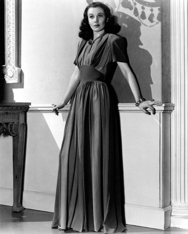 Full-length Portrait Poster featuring the photograph Vivien Leigh, Circa Late 1930s by Everett