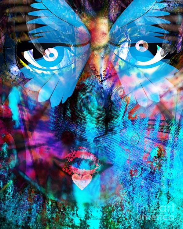 Fania Simon Poster featuring the digital art Wandering Thoughts - Untitled Desire by Fania Simon