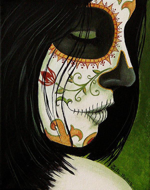 Dia De Los Muertos Poster featuring the painting De Un Dia Para Otro by Al Molina