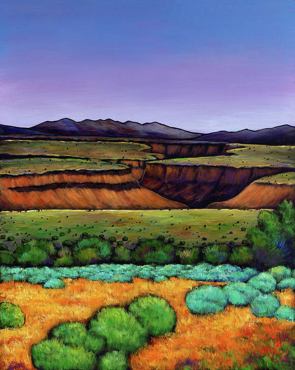 New Mexico Poster featuring the painting Desert Gorge by Johnathan Harris